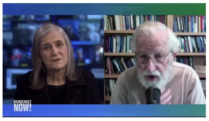 """Un gánster en la Casa Blanca"": Noam Chomsky"