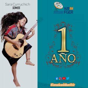 Sara Curruchich celebra primer aniversario de producción SOMOS