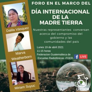 """#ForoVirtual """"Día Internacional de la Tierra"""""""