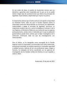 Destituyen a Juan Francisco Sandoval de la FECI